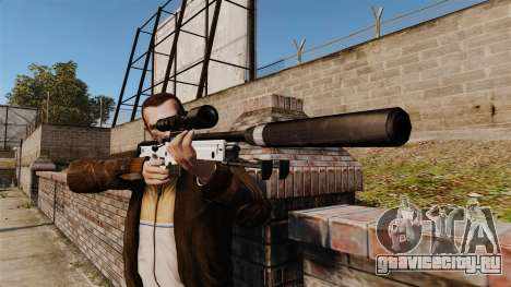 Снайперская винтовка AW L115A1 с глушителем v1 для GTA 4 третий скриншот