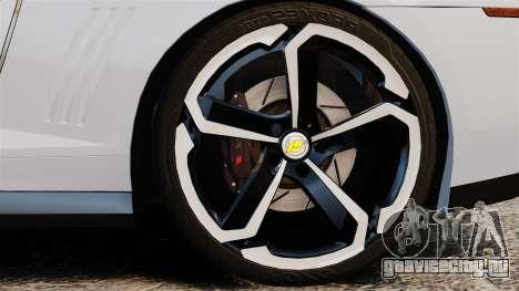 Chevrolet Camaro ZL1 2012 для GTA 4 вид сзади