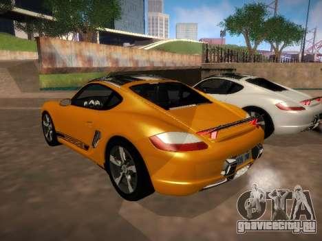 Porsche Cayman R 2007 для GTA San Andreas вид справа