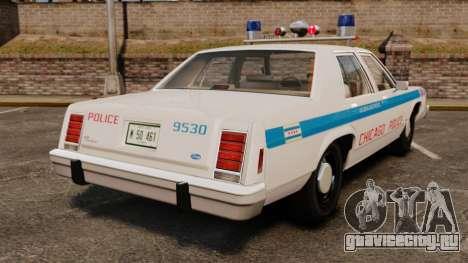 Ford LTD Crown Victoria 1987 [ELS] для GTA 4 вид сзади слева