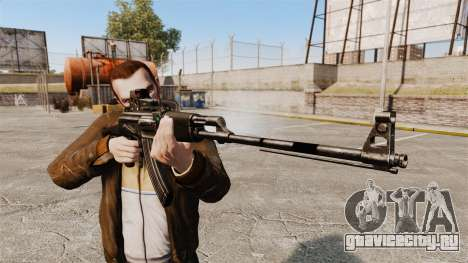 Ручной пулемёт Калашникова для GTA 4 третий скриншот