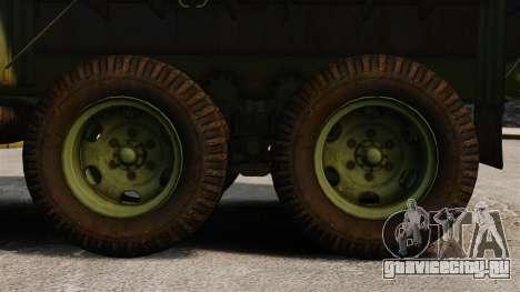 Базовый военный грузовик AM General M35A2 1950 для GTA 4 вид сзади