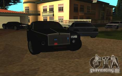 Rolls-Royce Phantom v2.0 для GTA San Andreas вид сзади