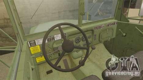 Базовый военный грузовик AM General M35A2 1950 для GTA 4 вид сверху