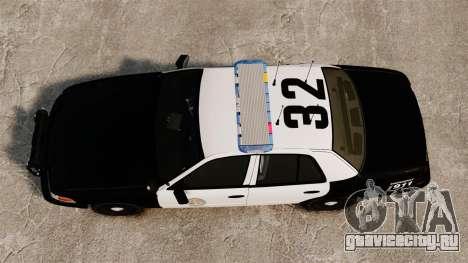 Ford Crown Victoria Police GTA V Textures ELS для GTA 4 вид справа