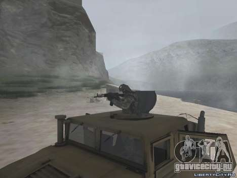 Hamvee M-1025 из Battlefiled 2 для GTA San Andreas вид справа