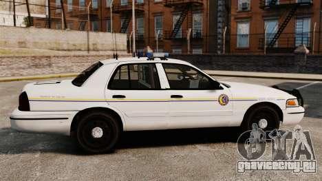 Ford Crown Victoria Police GTA V Textures ELS для GTA 4 вид слева