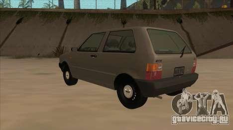 Fiat Uno 1995 для GTA San Andreas вид сзади