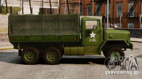 Базовый военный грузовик AM General M35A2 1950 для GTA 4 вид слева