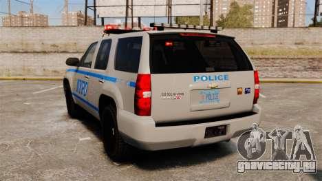 Chevrolet Tahoe 2007 NYPD [ELS] для GTA 4 вид сзади слева
