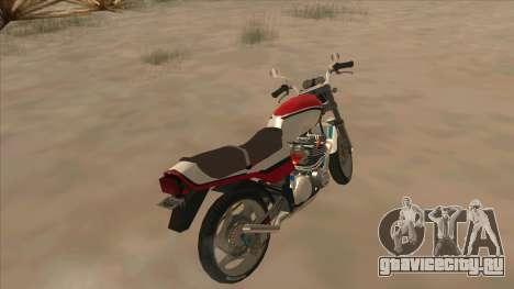 Honda CBX400F для GTA San Andreas вид сзади слева