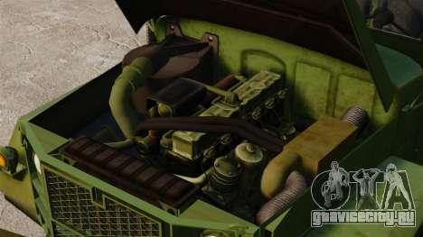 Базовый военный грузовик AM General M35A2 1950 для GTA 4 вид сбоку