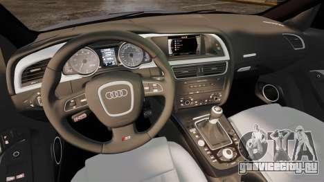 Audi S5 EmreAKIN Edition для GTA 4 вид изнутри