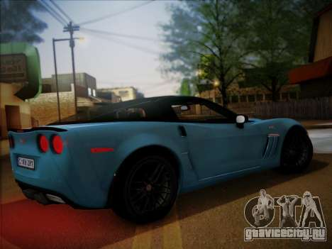 Chevrolet Corvette ZR1 2010 для GTA San Andreas вид сзади слева
