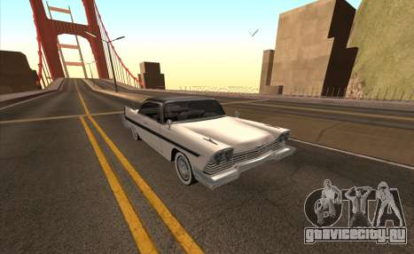 Plymouth Fury для GTA San Andreas вид сбоку