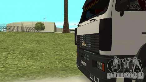 МАЗ 5440 для GTA San Andreas вид сверху