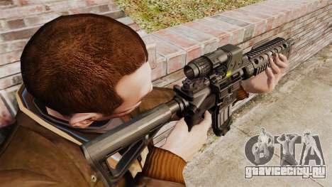 Автомат M4 CQC в стиле Modern Warfare для GTA 4 второй скриншот