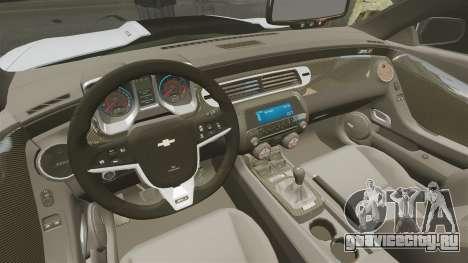 Chevrolet Camaro ZL1 2012 для GTA 4 вид изнутри