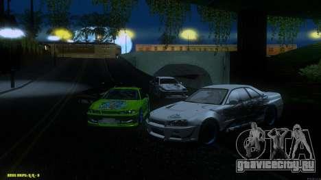 Nissan Skyline GTR 34 CIAY для GTA San Andreas вид сзади
