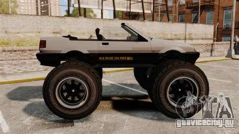 Futo Monster Truck для GTA 4 вид слева