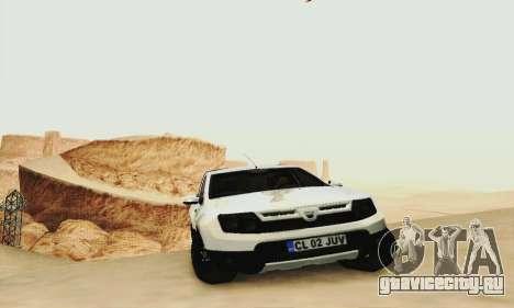 Dacia Duster Pick-up для GTA San Andreas вид сзади слева