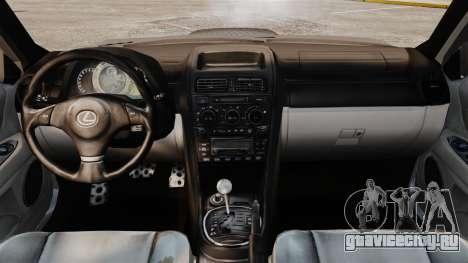 Lexus IS 300 для GTA 4 вид сзади