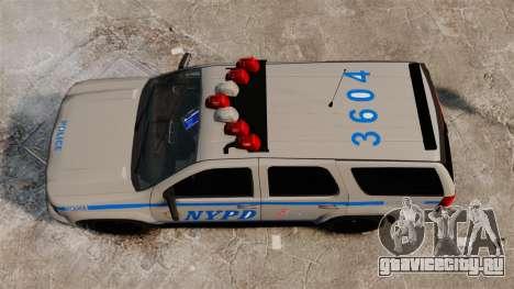 Chevrolet Tahoe 2007 NYPD [ELS] для GTA 4 вид справа