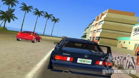 Mercedes-Benz 190E 1990 для GTA Vice City вид справа