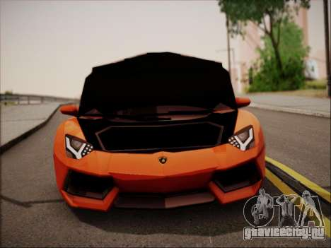 Lamborghini Aventador LP700 для GTA San Andreas вид снизу