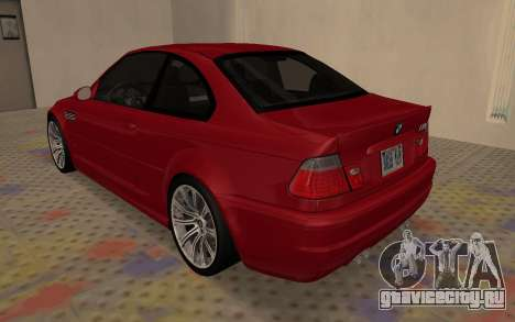 BMW M3 E46 2005 Body Damage для GTA San Andreas вид справа