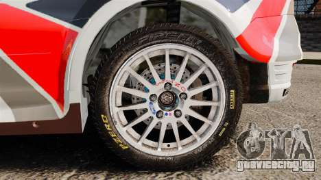 Ford Focus RS Munchis WRC для GTA 4 вид сзади