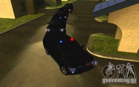 Mitsubishi Pajero для GTA San Andreas вид сзади