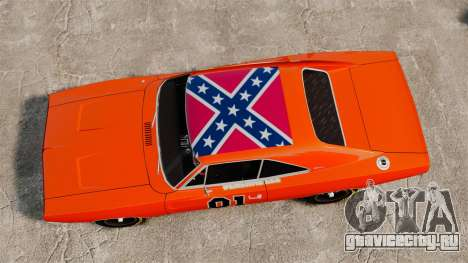 Dodge Charger General Lee 1969 для GTA 4 вид сзади