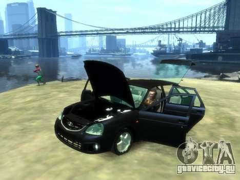 Lada Priora для GTA 4 вид справа