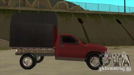 Chevrolet Luv 2.500 diesel для GTA San Andreas вид сзади слева