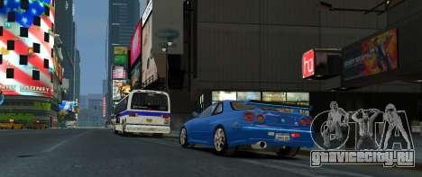 Nissan Skyline GTR-34 для GTA 4 вид слева