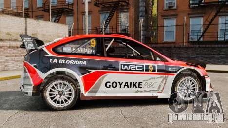 Ford Focus RS Munchis WRC для GTA 4 вид слева