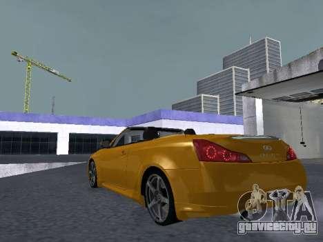 Infiniti G37 S Cabriolet для GTA San Andreas вид справа