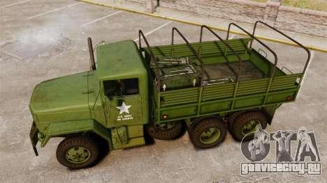 Базовый военный грузовик AM General M35A2 1950 для GTA 4 салон