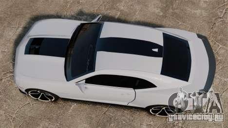 Chevrolet Camaro ZL1 2012 для GTA 4 вид справа