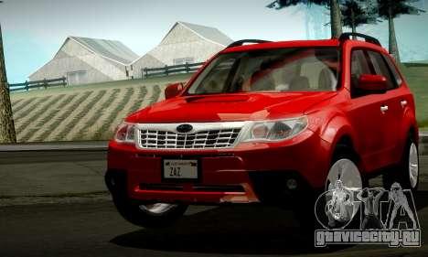 Subaru Forester XT 2008 v2.0 для GTA San Andreas вид снизу