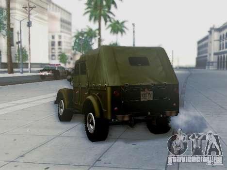 УАЗ 69А для GTA San Andreas двигатель