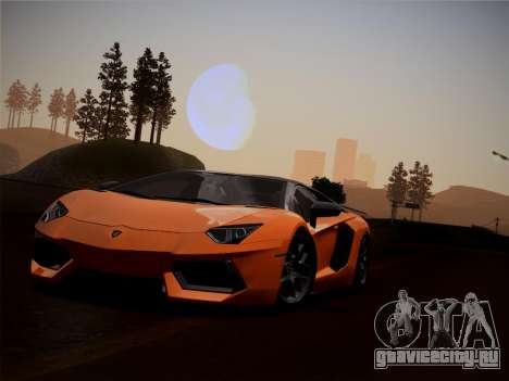 Lamborghini Aventador LP760-2 для GTA San Andreas вид изнутри
