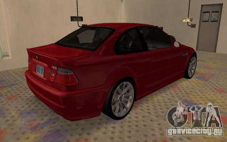 BMW M3 E46 2005 Body Damage для GTA San Andreas вид сзади слева