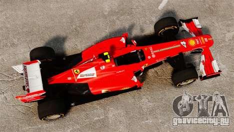 Ferrari F138 2013 v2 для GTA 4 вид справа