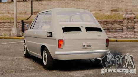 Fiat 126 v1.1 для GTA 4 вид сзади слева