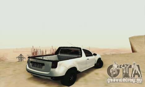Dacia Duster Pick-up для GTA San Andreas вид слева
