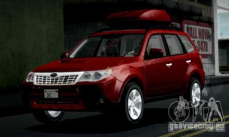 Subaru Forester XT 2008 v2.0 для GTA San Andreas вид изнутри