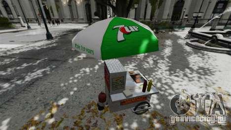 Обновлённые киоски и хот-договые тележки для GTA 4 шестой скриншот