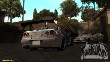 Nissan Skyline GTR 34 CIAY для GTA San Andreas вид сзади слева